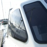 New acrylic windows bonded straight onto the boat